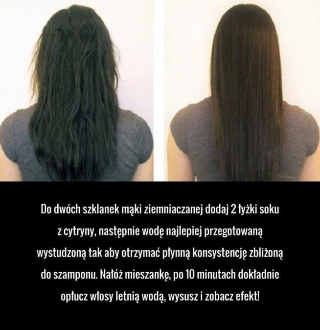 Niezwykły sposób na proste włosy,
