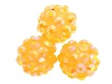 Koraliki do Shamballa Disco Ball Light Orange