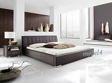 Łóżko IZA z tapicerowanym załówkiem (dostępne kilka kolorów)