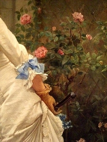 Traveling through history of Art...A Girl and Roses, detail, by Auguste Toulm...