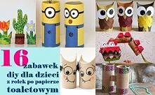 Zabawki z rolki dla dzieci - zobacz krok po kroku na twojediy.pl