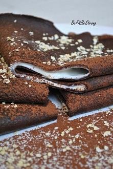Bardzo kakaowe naleśniki jaglane z kremem cytrynowym! Dodają dużo energii, a ...