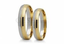 ST 253 Klasyczne obrączki ślubne z dwóch kolorów złota pr. 585 z delikatnym d...