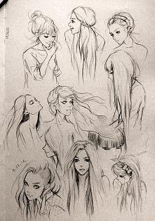 szkoda, że to nie moje szkice :( są takie ładne... <3