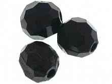Koraliki Akrylowe Szlifowane Kula Czarny