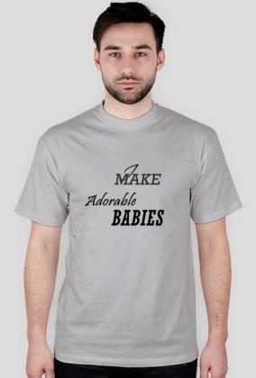 """I make adorable babies, prezent na dzień ojca, urodziny, imieniny, narodziny dziecka. Dostępna również koszulka i śpiochy dla dziecka""""adorable baby"""""""