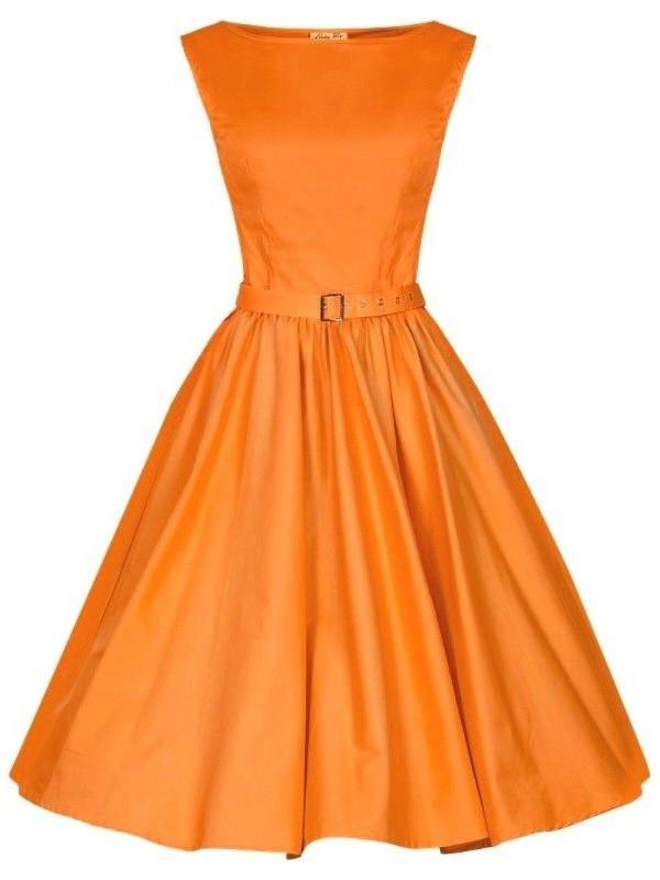 Vintage Rockabilly 50s Audrey Hepburn Dress Sleeveless Party Evening Cocktail Formal Swing Wasit Dress with Belt