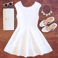 Piękna biała sukienka <3 Kliknij w zdjęcie i zobacz więcej :)