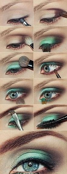 szmaragdowy make up