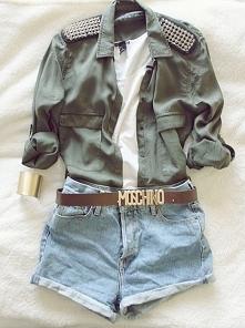 militarna koszula