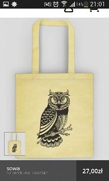 Sowa eko torba na zakupy lub laptopa.  Więcej na moim profilu lub shop-4-you....