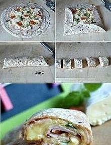 Domowe rollsy  Składniki:  1 opakowanie tortilli ( u mnie pełnoziarnista) 20 ...