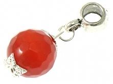 Zawieszka Beads z Kamienia Agat Czerwony