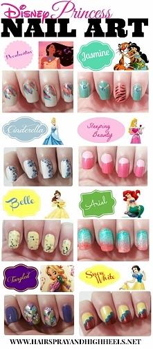 Disney Princess Nail Art