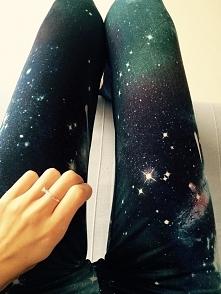 spodnie galaxy ze spranych czarnych dżinsów ziom