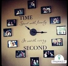 rodzinny zegar diy :)