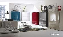 kolorowe włoskie meble (Sanos) ożywiają wnętrze
