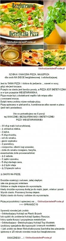 Odchudzasz się a lubisz pizzę :) Oto jest prosty przepis na niskokaloryczną s...