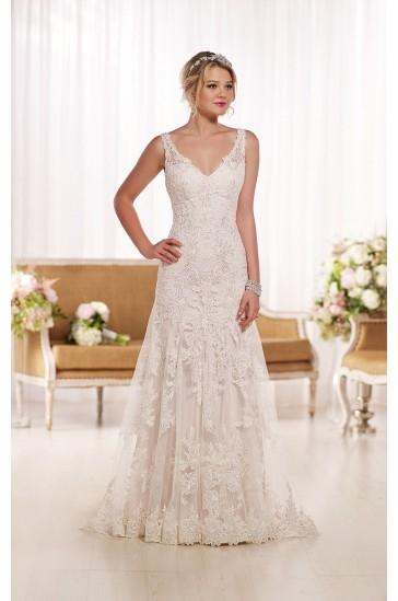 Essense of Australia Lace A-line Wedding Dress Style D1771