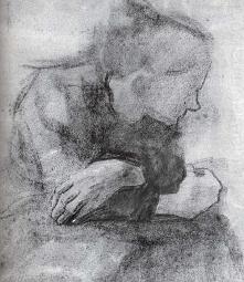 Kathe Kollwitz, Sitting wom...