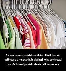 sposób na pachnące ubrania