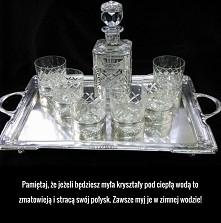 pamiętajcie kryształy myjemy w zimnej wodzie aby nie straciły połysku