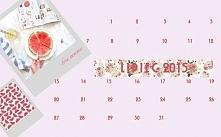 lipiec 2015- kalendarz  Moja głowa pełna inspiracji.  porajowiś.blogspot.com ...