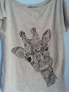 T-shirt ręcznie malowany #tshirt #zentangle