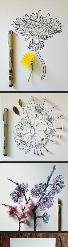 Kwiaty na papierze.