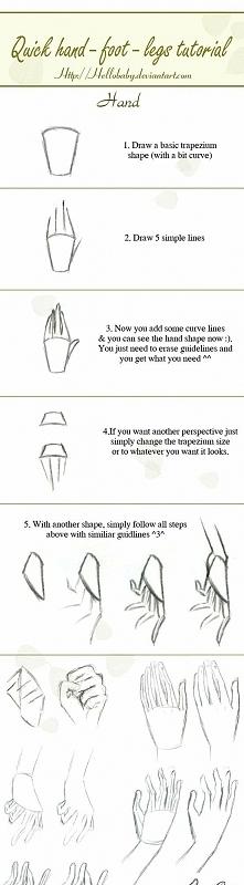 Jak rysować rękę.