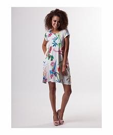trapezowa sukienka w kwiaty juz dostępna :)