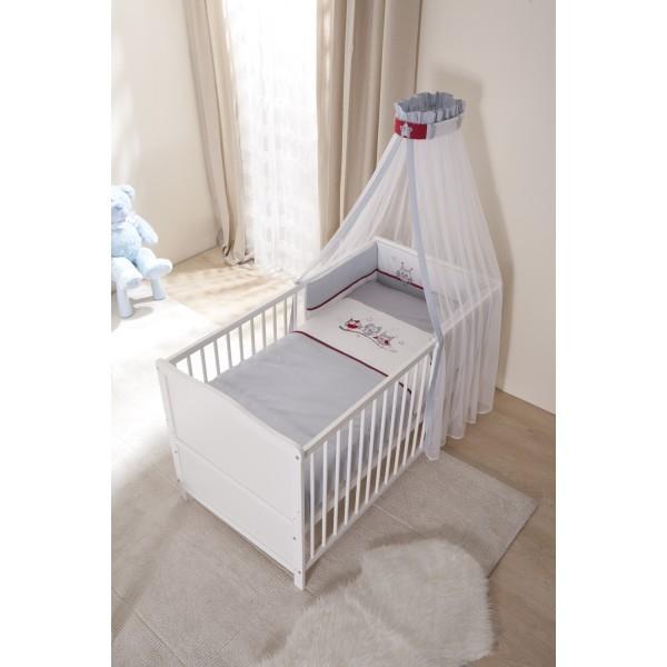 Aktualne łóżeczko tapczanik 70x140 białe styl vintage wyposażenie sowy na XM27