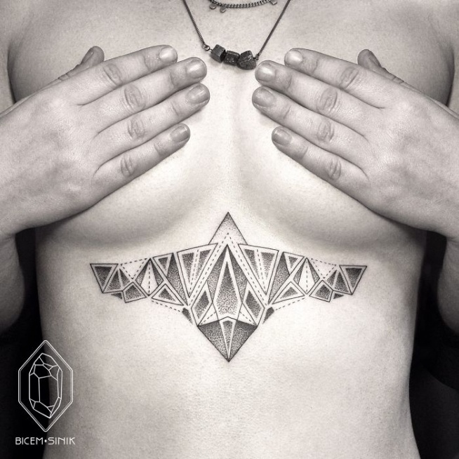 Niesamowite Kropki I Kreski Te Geometryczne Tatuaże Cię