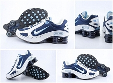 2015 White Dark Blue Mens Nike Shox Monster Shoes