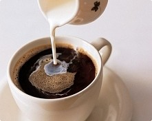 kawka z mleczkiem z rana