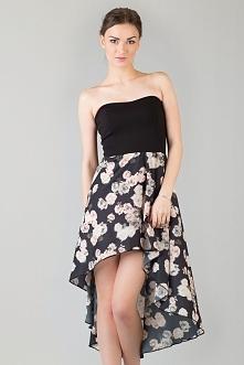 Asymetryczna sukienka z gor...
