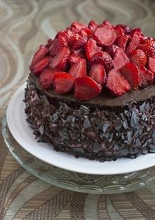 Tort truskawkowy  Przepis p...