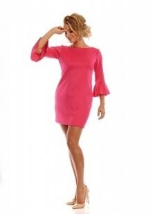 sukienka w pięknym odcieniu fuksji - perfekcyjna :)