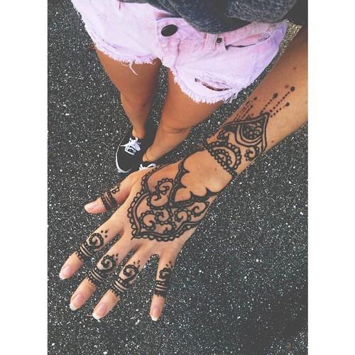 Najlepszy Wzór Na Dłoń X Na Tatuaże Henna Zszywkapl
