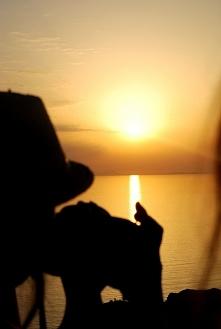 Zachód słońca w Oia, Santorini