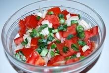 Prosta surówka z pomidorow