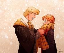 Anna  i Kristoff w Hogwardzie.