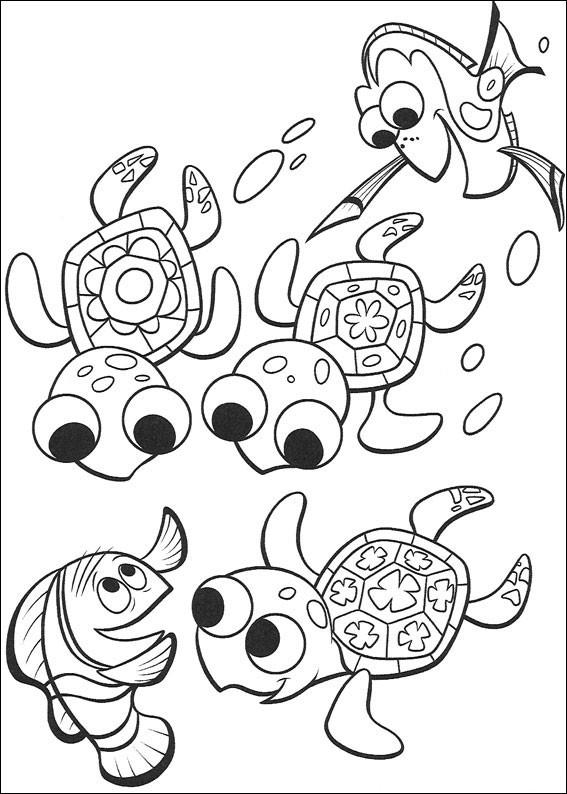 Kolorowanka Gdzie Jest Nemo Malowanka Do Wydruku Nr 3