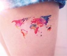 kto chciałby mieć mapę świata na ciele?♥ cudowne wykonanie*.*