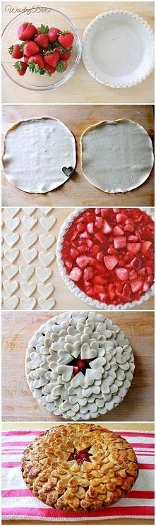 Ciasto truskawkowe z serduszkami♥