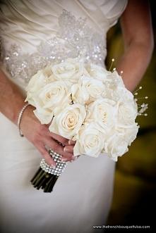 Bukiet ślubny latem - róża ...