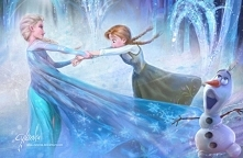 Elsa, Anna i Olaf :)