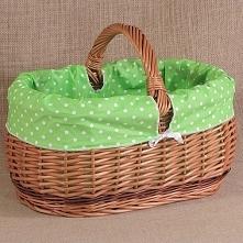 Elegancki i solidny koszyk na zakupy wykonany z ekologicznego materiału jakim...