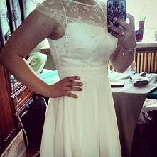 Moja sukienka szyta na miarę ;) koronka to coś co uwielbiam!<3
