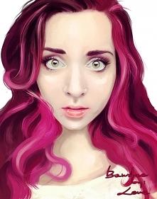 Zuza w technice malarstwa cyfrowego, portret wykonany przeze mnie przy pomocy...